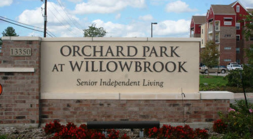 Orchard at Willowbrook Sign